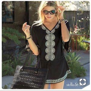 Stella&Dot Black Tunic/Cover Up